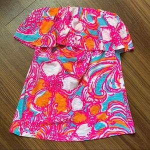 Lilly Pulitzer strapless Wiley Tube Top - XS, NWT